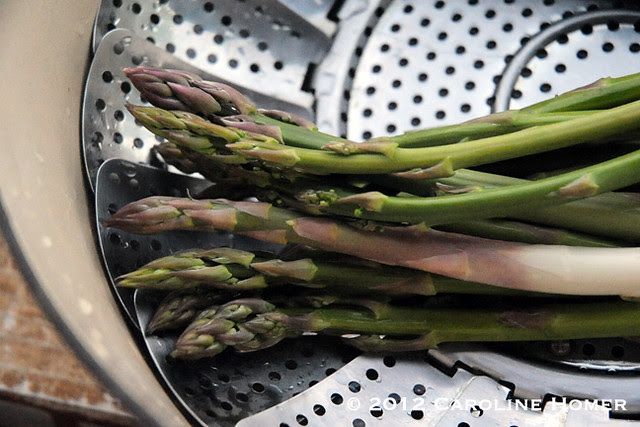 Homegrown asparagus