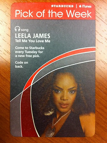 Starbucks iTunes Pick of the Week - Leela James - Tell Me You Love Me