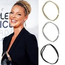 Women Glitter Elastic Headband High Quality Bling Hairband