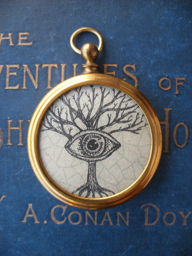 """Fob pendant- """"Can't see the wood for the trees"""""""