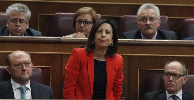El diputada del PSOE Margarita Robles durante las votaciones del debate de investidura. / EFE