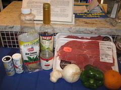 Bistec asado en cazuela ingredients