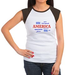 Celebrate America Women's Cap Sleeve T-Shirt