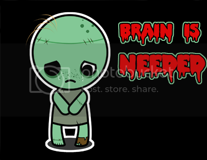 Brain is needed zombie background