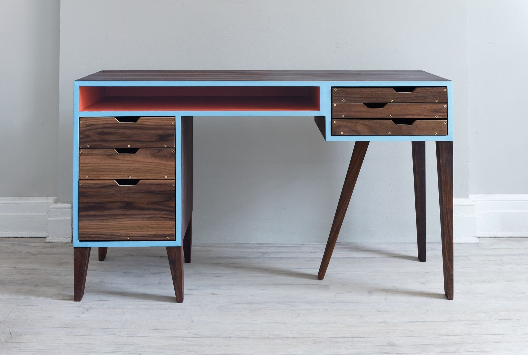 Hand Made Mid Century Modern Desk by Kevin Michael Burns ...