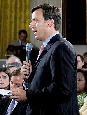 ABC correspondent Jake Tapper during a prime t...