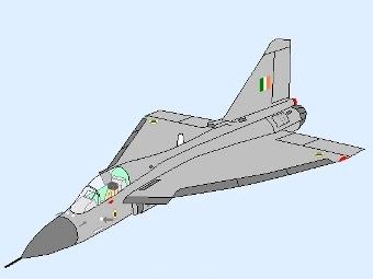 Палубная версия Tejas. Схематичное изображение с сайта wikipedia.org