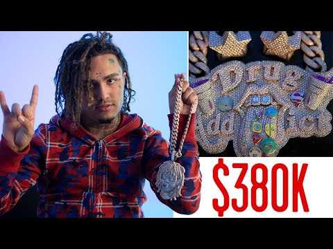 Lil Pump Shows Off His Jewelry For 'GQ'