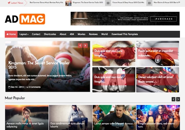 Ad Mag Blogger Template  -  Engine optimization ads