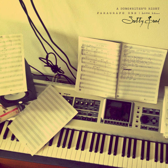 """A Songwriter's Right"" : P A R A G R A P H   O N E - Love is... cover art"
