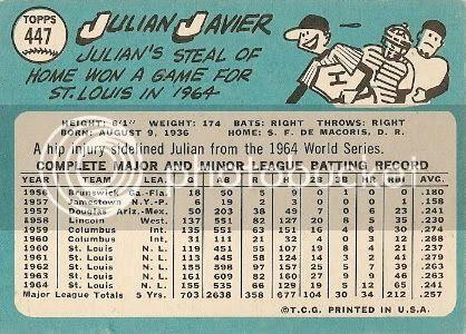 #447 Julian Javier (back)