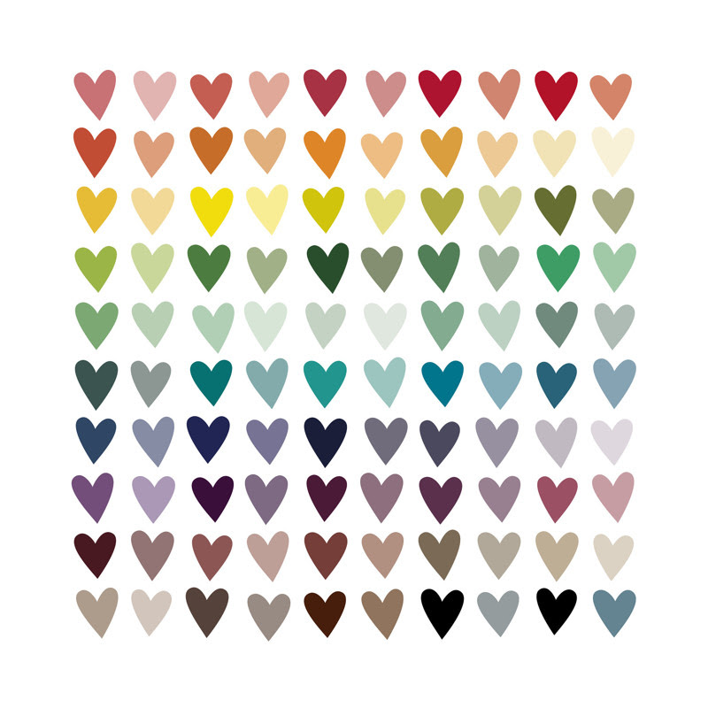 Paper Hearts | Limited Edition Print by InkDot