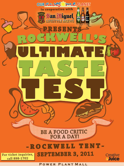 Rockwell's Ultimate Taste Test final poster