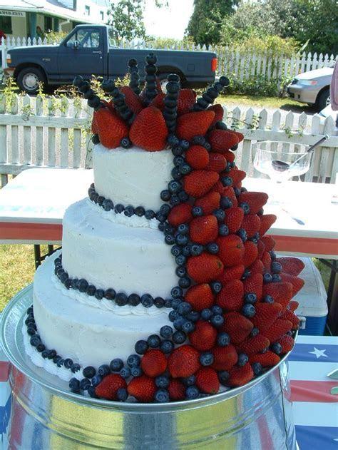Fourth of July wedding cake   Craft Ideas   Pinterest