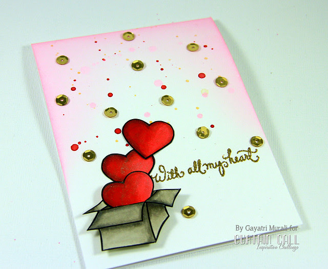 With all my heart card