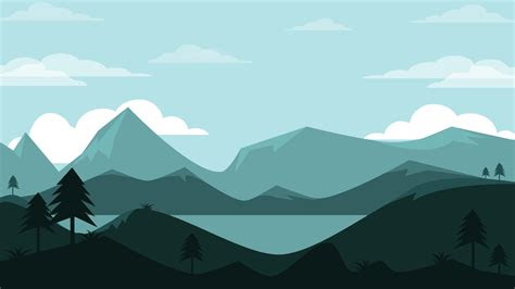 wallpaper mountains clouds landscape  minimal