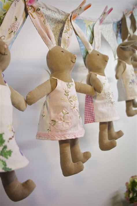 vintage bunny doll felt