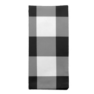 Black and White Gingham Pattern Printed Napkin