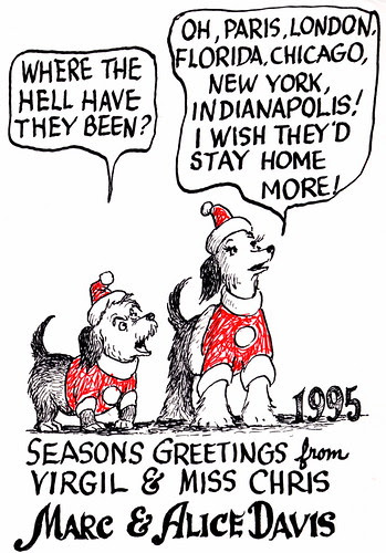 Marc Davis Christmas Card - 1994