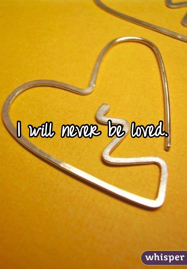 I Will Never Be Loved