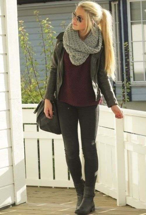 I could wear this with my new gray scarf!