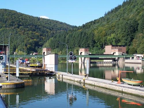 Neckar River lock
