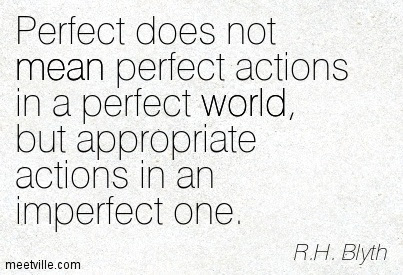 Perfect Does Not Mean Perfect Actions In A Perfect World But