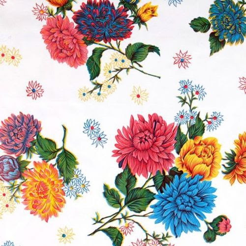 Pretty floral oilcloth fabric. Lots of colours to choose from @fabrictraders.com.au Fabric & Trims Online
