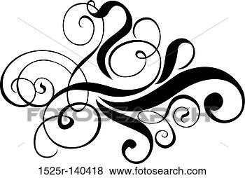 Stock Illustration of Scroll, cartouche, decor, vector