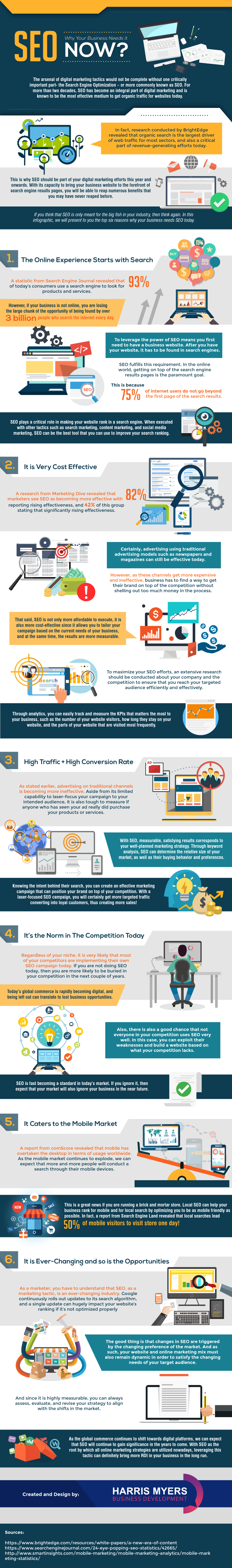 Importance of SEO in Digital Marketing for Business Websites - Infographic