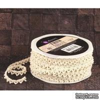 Вязаное кружево Prima - Lace Trim - Almond, цвет кремовый, 90 см - ScrapUA.com