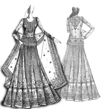 Pin by Asma Shirin on Sketch   Dress design sketches