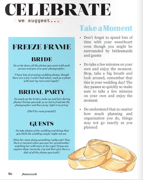 wedding illustrations for framework magazine wedding rings bands