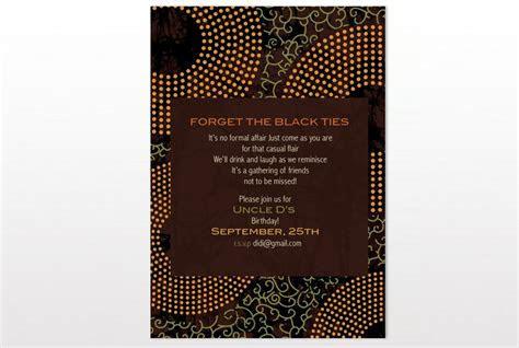 African dutch wax print inspired Invitation card
