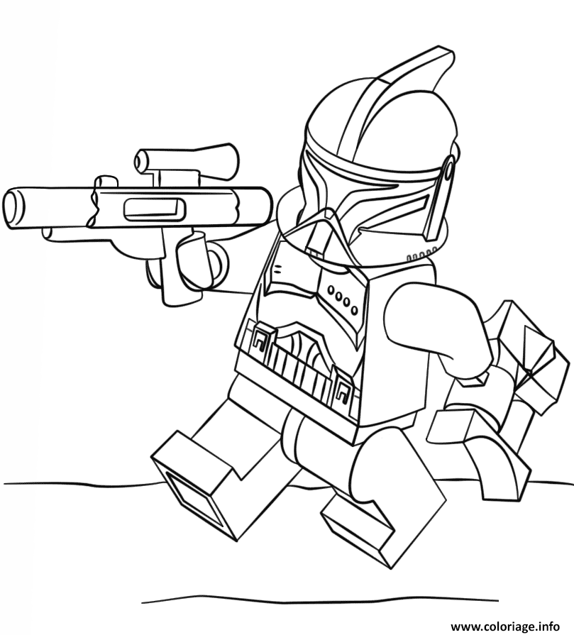 Coloriage Lego Star Wars Clone Trooper Jecoloriecom