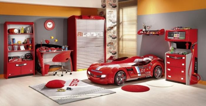 15 Amazing Red and White Kids Bedroom - Rilane