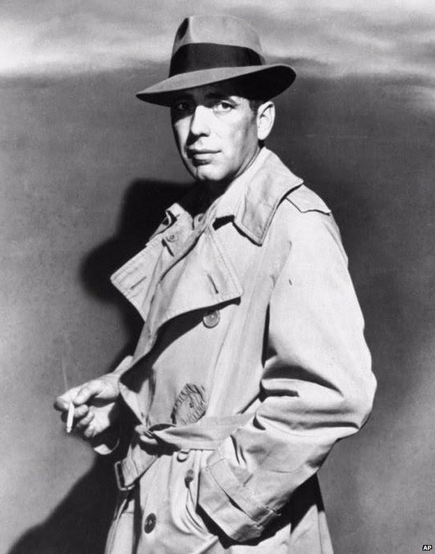 Humphrey Bogart as private eye Sam Spade in 1941 film The Maltese Falcon