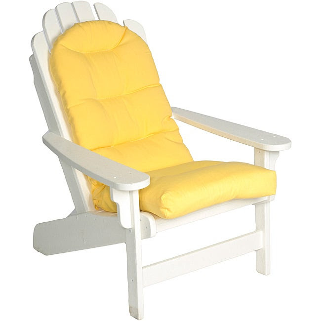 Ali Patio Solid Yellow Outdoor Adirondack Tufted Chair ...