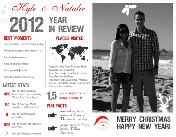 Diy Year In Review Infographic Card My Little Secrets