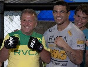 Zico, Vitor Belfort e Thiago Coimbra (Foto: Ideraldo Gomes)