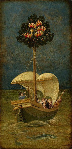 Holy Grail Sails to Britain, James Christensen