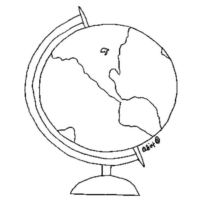 Dibujos Para Colorear De Esferas Del Mundo