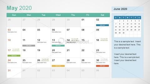 2020 Calendar Of May