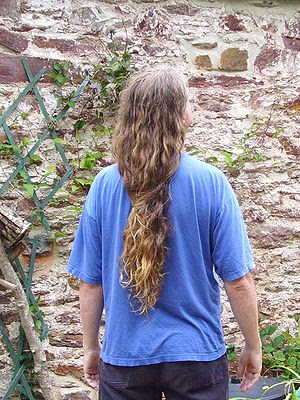 Male long hair in Western culture. Totnes, UK ...