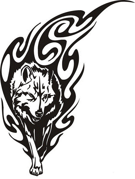 18 Awesome Tribal Wolf Tattoo