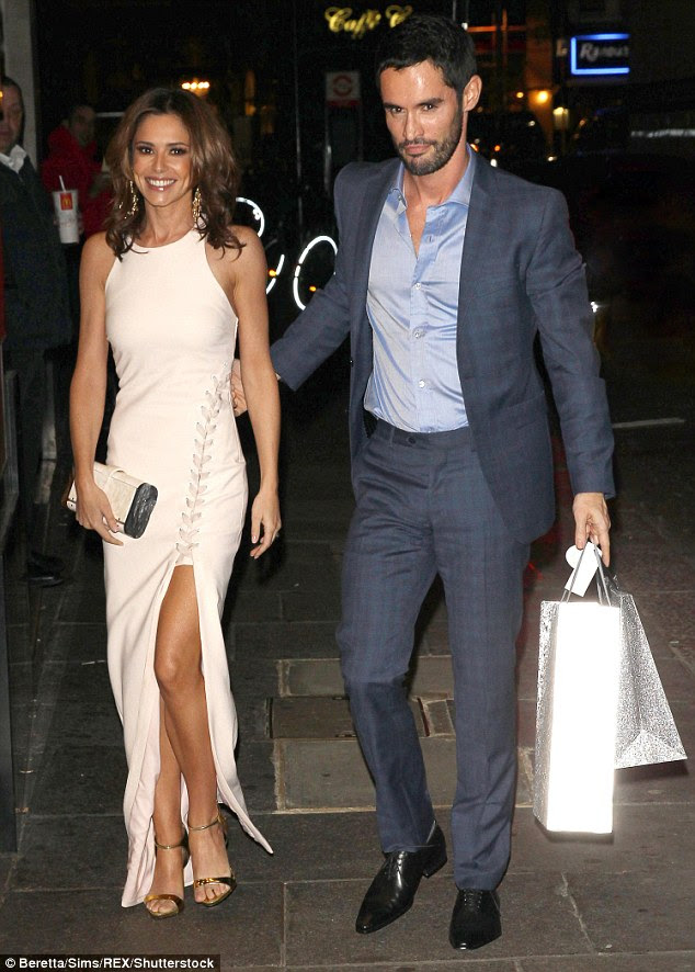 The perfect gentleman: Cheryl and Jean-Bernard were last pictured together in October 2015 and there was nothing to suggest that their marriage was in trouble