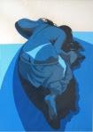 """Bruno Steinbach. """"Sem Título"""". Serigrafia/papel cançon, 76x56 cm, 1985, João Pessoa, Paraíba, Brasil. Coleçao: Rosanna Chaves, João Pessoa-Pb. Catálogo 17."""