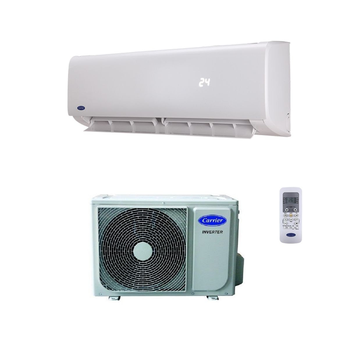 carrier air conditioning wall mounted 42qhc024ds 7kw 24000btu heating and cooling with remote control 240v 50hz 60hz 8178 p
