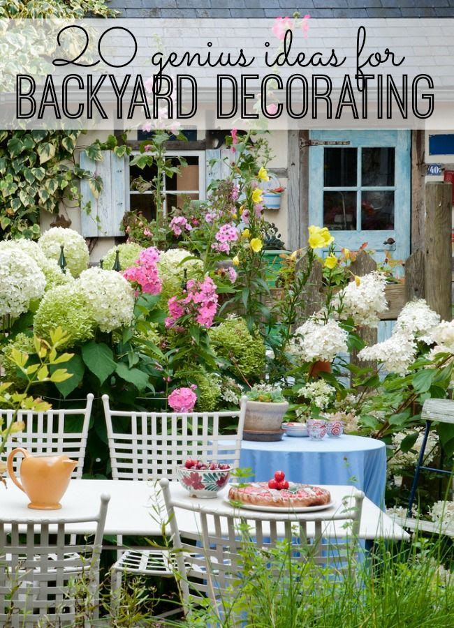 Back Yard Decorating Ideas