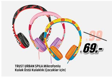 TRUST URBAN SPILA Mikrofonlu Kulak Üstü Kulaklık (Çocuklar İçin) 69TL